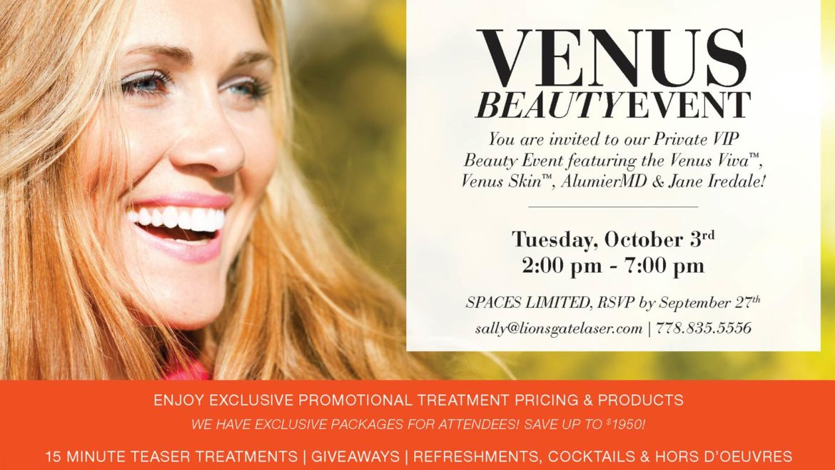 Venus Beauty Event!